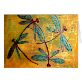 Dragonfly Haze Greeting Card