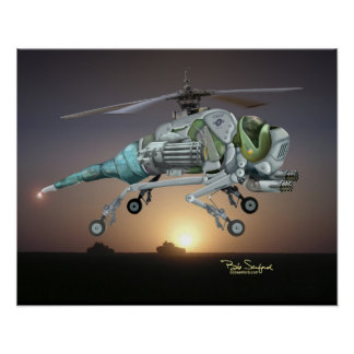 Dragonfly helicopter poster