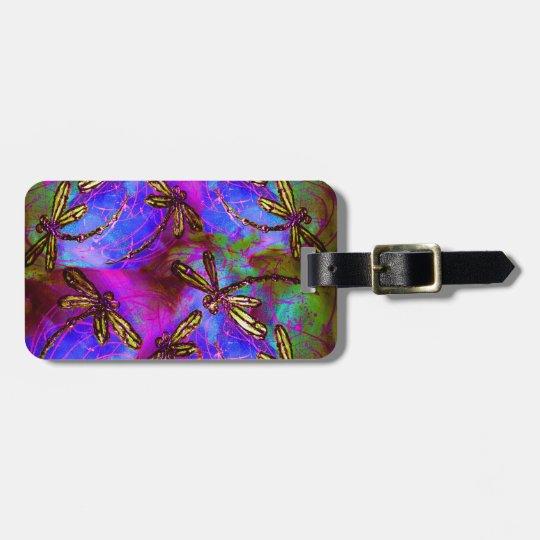 Dragonfly Hippy Flit Bag Tag