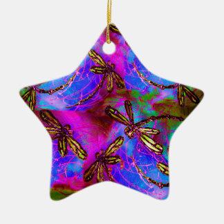 Dragonfly Hippy Flit Ceramic Ornament