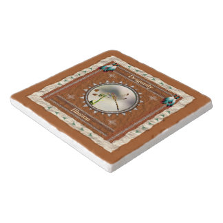 Dragonfly -Illusion- Marble Stone Trivet