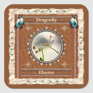 Dragonfly -Illusion- Stickers - 20 per sheet