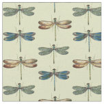 Dragonfly Illustrations Fabric