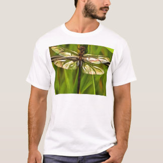 Dragonfly In Brown And Yellow T-Shirt