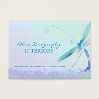 Dragonfly in Dreamy Field Unique Business Cards