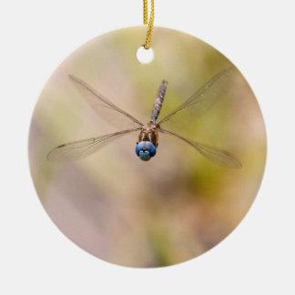 Dragonfly in Flight Photo Ceramic Ornament