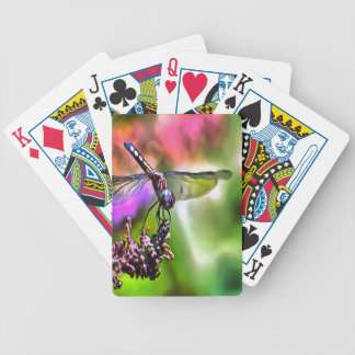 Dragonfly In Green and Blue Bicycle Playing Cards