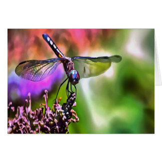Dragonfly In Green and Blue Card
