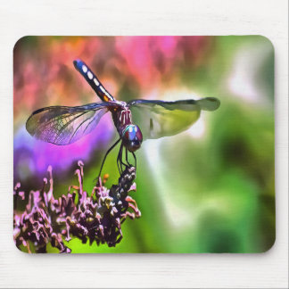 Dragonfly In Green and Blue Mouse Pad