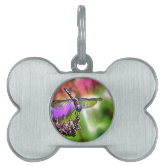 Dragonfly In Green and Blue Pet ID Tag