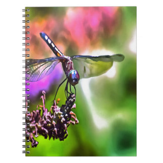 Dragonfly In Green and Blue Spiral Notebooks