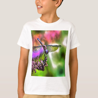 Dragonfly In Green and Blue T-Shirt