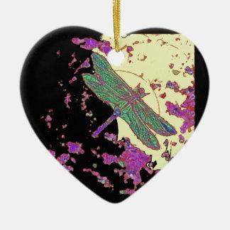 Dragonfly in Moonlight Design by Sharles Ceramic Ornament