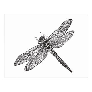 Dragonfly In Style Postcard