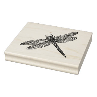 Dragonfly In Style Rubber Stamp