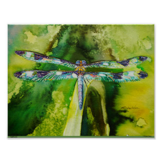Dragonfly Jewels Poster