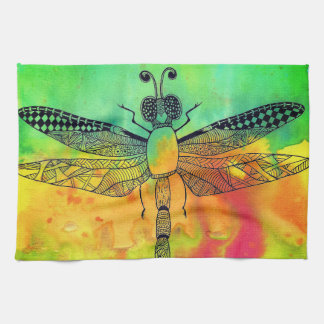 Dragonfly Kitchen Towel (You can Customize)