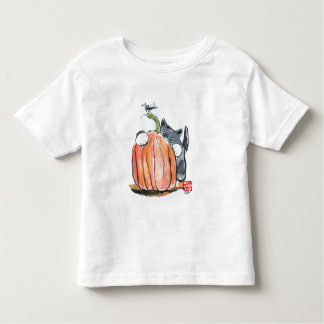 Dragonfly Leads Kitten Through the Pumpkin Patch Toddler T-shirt