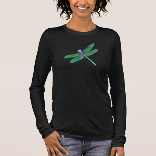 Dragonfly Long Sleeve Womens Shirt