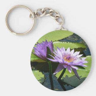 Dragonfly Lotus Keychain