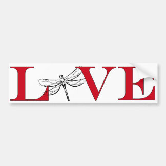 Dragonfly Lover Bumpersticker Bumper Sticker