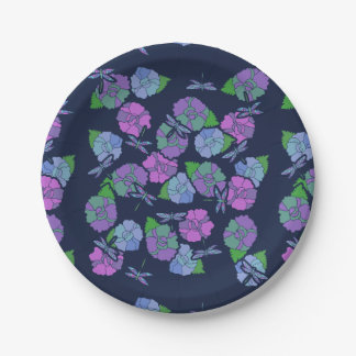 Dragonfly lover paper plate