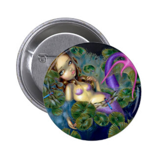 """Dragonfly Mermaid"" Button"
