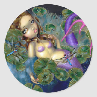 """Dragonfly Mermaid"" Sticker"