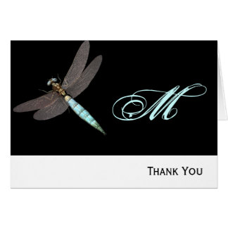 Dragonfly Monogram Business Note Card