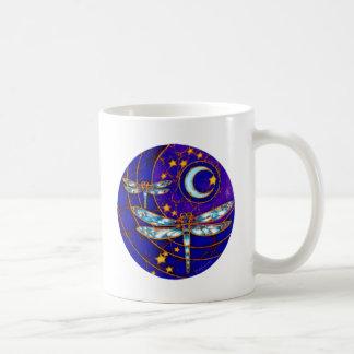 dragonfly moon coffee mug