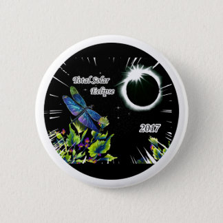 Dragonfly Observing the Total Solar Eclipse 2017 2 Inch Round Button