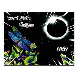 Dragonfly Observing the Total Solar Eclipse 2017 Postcard