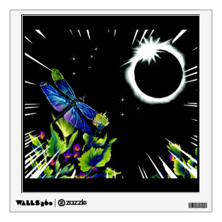 Dragonfly Observing the Total Solar Eclipse Wall Decal