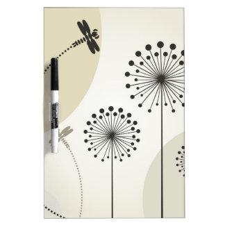 Dragonfly on a flower dry erase board
