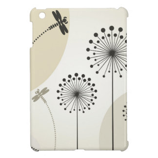 Dragonfly on a flower iPad mini cases