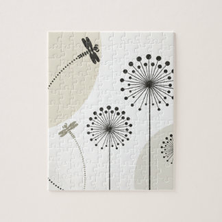Dragonfly on a flower jigsaw puzzle