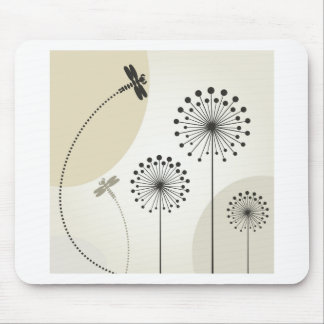 Dragonfly on a flower mouse pad