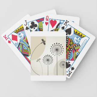 Dragonfly on a flower poker deck