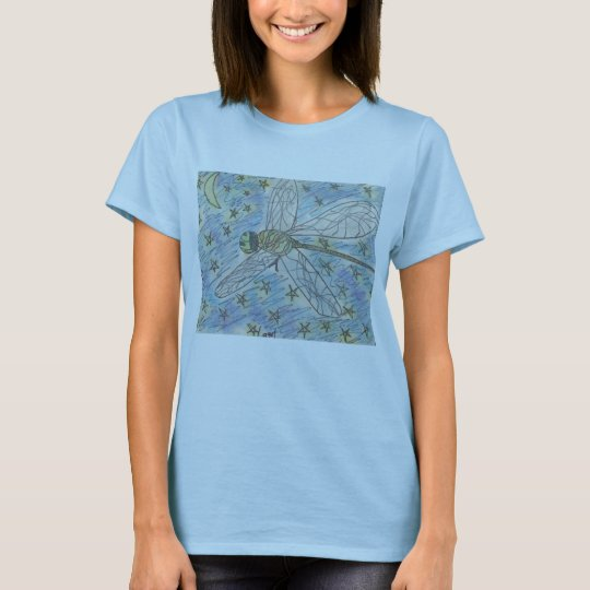 Dragonfly on a Starry Night T-Shirt