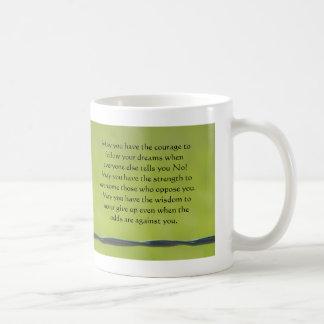 dragonfly on barbwire mug, May you have the cou... Coffee Mug