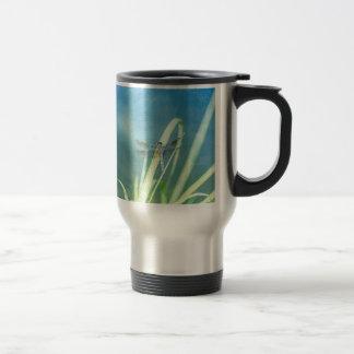 Dragonfly on Blue Travel Mug