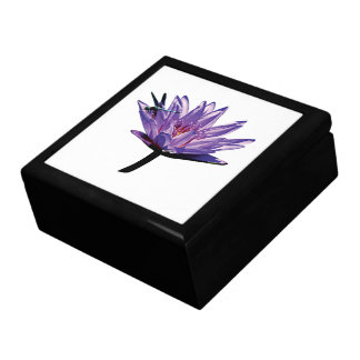Dragonfly on Purple Water Lily Gift Box