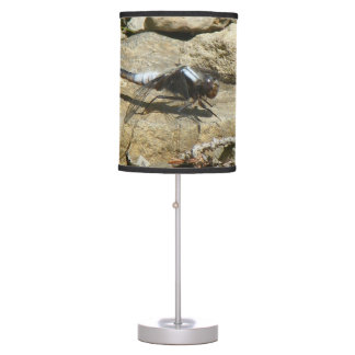 Dragonfly On Stone Table Lamp