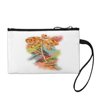 Dragonfly Orange Splash Coin Wallet