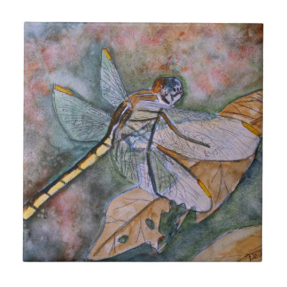 dragonfly painting tile