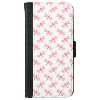 Dragonfly pattern iPhone 6 wallet case