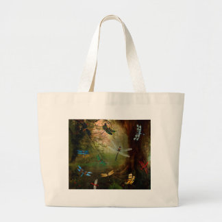 Dragonfly Playground Large Tote Bag