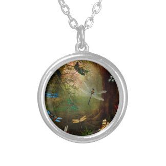 Dragonfly Playground Silver Plated Necklace
