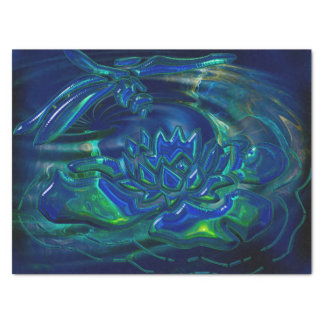 Dragonfly Pond 3D Glass Mixed Media Tissue Paper