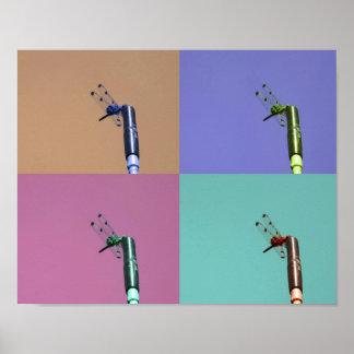 Dragonfly Pop Art Poster